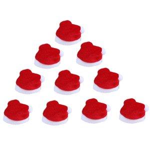 10Pcs Set Mini Christmas Hat Santa Claus Hat Xmas Apple Wine Bottle Caps Christmas Gift Caps for New Year Tree Ornament Decor #2
