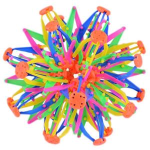 14 -28cm mágica transformable bola Novel Escalabilidad juguete esfera en expansión bola de juguete para niños del arco iris mágico colorido de la flor de la bola La314