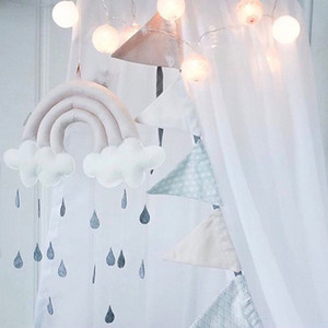 Bed hanging toys Baby Crib Tent Mobile Hanging Room Fabric Accessories Cute Gifts Photography Decoration Cloud Raindrop Props Nursery vs