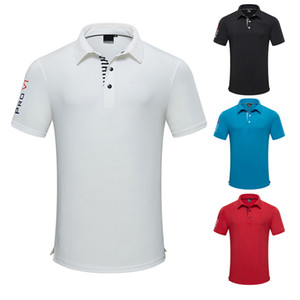 Camisa de manga curta dos homens de golfe camiseta polo camisa respirável top wicking suor e umidade solta roupas de golfe verão novo estilo
