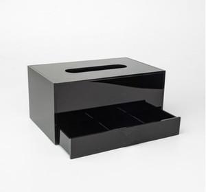 2020 جديد الاكريليك ماكياج مربع التجميل ماكياج الأنسجة مربع مجوهرات تخزين صينية الأنسجة مربع ل هدية الزفاف