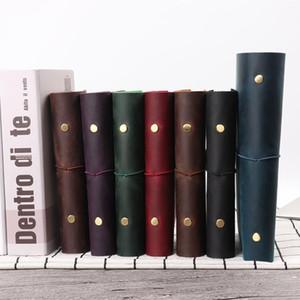 Venta caliente clásico Business Notebook A5 A7 personal de cuero genuino de la cubierta de hojas sueltas Cuaderno Diario de viaje Sketchbook Planner