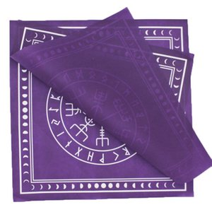 Junta adivinación Parte no Mantel Tela 50x50cm Mantel cuadrado Altar Tarot Card Game Tejido Mantel Brujería Bolsa RVvjg
