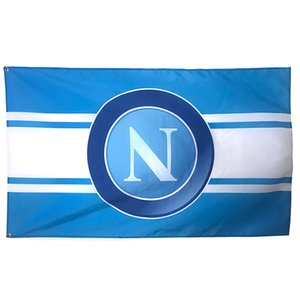 Cheap Custom Printing 3x5ft Italy Napoli FC Flag , All Country Hanging 100% Polyester Fabric Indoor Outdoor Festival Sports, Free Shipping