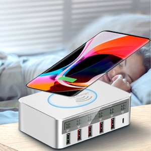 Wireless charger QC3.0 flash charging PD mobile phone tablet smart charging universal multi-port USB socket fast charging TYPE-C