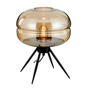 Modern Glass Table Lamp Comodino escursioni Nordic Light Home Decoration Light Cafe Hotel Bedroom Living Room