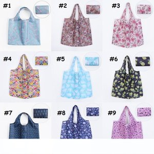 Foldable Shopping Bag Two in One Large Waterproof Shoulder Bag Reusable Tote Pouch Recycle Storage Handbags 42 Styles