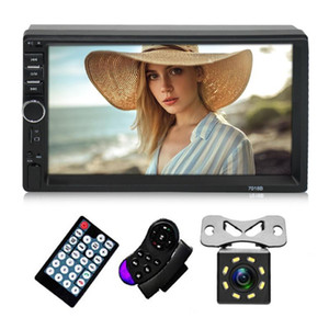 "2 Din Car Radio MP5 Player 7"" HD Touch Screen Auto Audio Double Din Car Stereo Multimedia Player Bluetooth USB TF FM Camera"