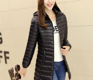 Jackets Fashion Casual Hooded Slim Long Hooded Warm Down Hat Detachable Womens Coat Plus Size Women Winter Light Parkas