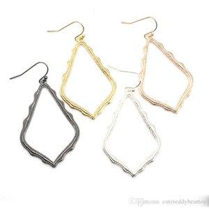 Regalo del partito di modo delle donne ciondola gli orecchini per gli orecchini Cgjxs Kendra Style Scott Hollow Waterdrop Telaio
