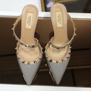 women Sexy Rivets Pierced women's Shoes Style Sexy Nightclub With Thin high-heeled Shallow Pointed