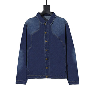 Mens alla moda Denim Giacche Hip Hop uomini le donne retrò Giacca blu Nero Moda Uomo Outerwear