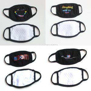 Toz Karşıtı Komik Pamuk İfade Maskesi Kirliliği Koruyucu Yüz Maskeleri Yıkanabilir Yetişkinler için Çocuklar Eşsiz Dens Siyah Beyaz # 850