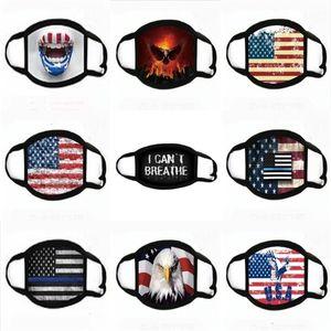 Usa la elección americana Presidente Listo boca de algodón Face Mask Trump 2020 impresa letra del partido Er facial máscaras protectoras de diseño # 622