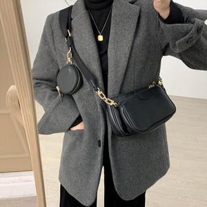 Woman Messenger Bag Quality PU Leather New Style Fashion Three In One Handbags Wide Shoulder Bag Female Crossbody Bag