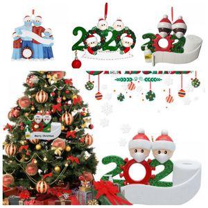 Yüz Maskeleri ile 4 Süsleme salgınının moda tasarımı Karantina Noel Dekorasyon Doğum Parti Hediye Ürün Kişiselleştirilmiş Ailesi XB-40
