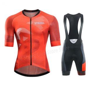 2020 STRAVA Cycling Jersey Sets Mtb Bicycle Clothing Bike Wear Clothes Bib Shorts Maillot Roupa Ropa De Ciclismo Hombre Verano