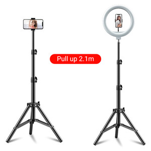 Quality Led Ring Light with 210cm Tripod Stand Photography Dimming Video Live Youtube TikTok 12 Inch Selfie RingLight Phone Makeup