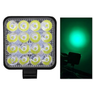 Mini Green 48W Working Green Color Light 3.3inch Led Work Light Beam16LED Square Off-road Lamp Light Truck ATV Jeep SUV 12V 24V Led bar