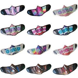 Unisex-Gesichtsmasken Art und Weise PU-Leder-Gesichtsmaske Staubdichtes windundurchlässiger Mouth-Muffel waschbar atmungsaktiv Outdoor Sport schützende Schablonen-Geschenk 2020