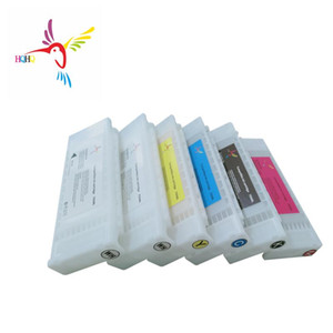 Fulled With Textile Ink Ink Cartridge For SureColor F2000 F2100 Printer700ML 6pcs Set T7251-T7254 T725A T725A