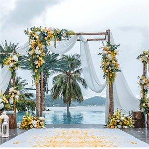 Flor artificial branco casamento romântico com Moda Decoração para Janela exterior Arch Decoração