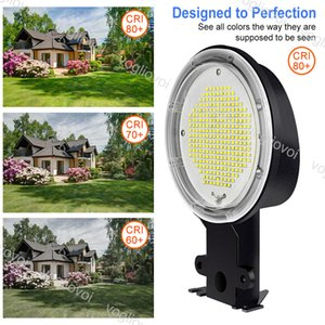 Street Light Smart Light Sensor 35 50 70 80 100 120W Barn Lamp 100-277V Floodlights Waterproof Outdoor Lighting For Tennis Court Garage DHL