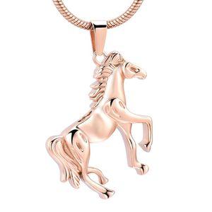 IJD10072 Memorial Running Horse Crémation en acier inoxydable Pendentif pour Ashes Urn Collier Keepsake pour les hommes Bijoux