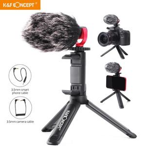 KF Concept MINI Caméra trépied pour appareil photo reflex numérique visiophone Kit Microphone pour YouTube, Vlog Bonnette 3,5 mm