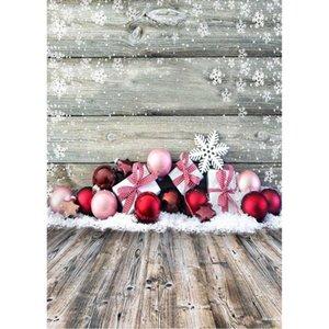 Foto de Fundo bolas de Natal Presentes de Fundos de neve personalizados para Retrato Crianças Baby Shower Photobooth Fotografia Props