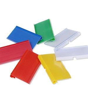 10PC Supérette Carte Shelf étiquetage Bandes Étiquette de prix Étiquette Cadre Transparent Nom de la promotion Support pour magasin coloré Rack crochet
