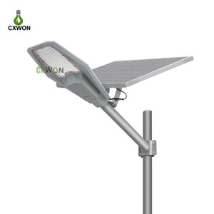 Street Lights 100W 200W 300W 400W Aluminum Waterproof Durable LED Solar Street Lighting Lamp with remote and pole