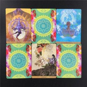 Deck Yogische Oracle Reiseführer und Pfad-Karten Eine Oracle Familie Englisch Card Games Tarot Entertainment Party uEKGS garden_light