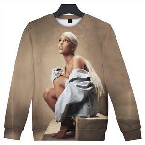 Ariana Grande 3D Streetwear Felpe Donna Uomo O Collo maniche lunghe in cotone Harajuku Stampa Ariana Grande Felpa Primavera Hoody
