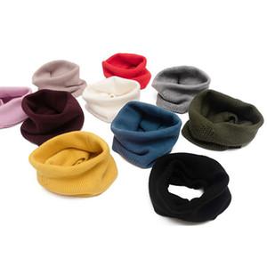2020 Automne et Hiver chaud Collier creux solide Couleur extérieure Collier Faux Boucle simple Tricoté Woollen Masque Anneau Écharpe