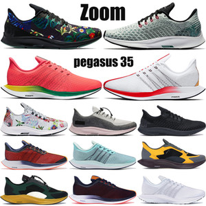Nuovo Zoom Pegasus 35 turbo fly scarpe da corsa triple nero vasto grigio oro dardo Fir knit geode teal uomo donna stilista sneakers
