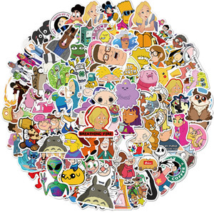 101 PCS Mixed cartoon characters waterproof Stickers Graffiti for DIY Sticker on Suitcase Luggage Laptop Bicycle Skateboard Car sticker