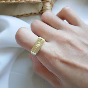 Amaiyllis S925 Sterling Silber Persönlichkeit Trend Skulptur Reis Blumen-Öffnungs-Ring für Frauen Hochzeit Verlobung Schmuck