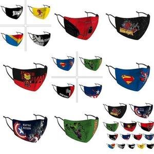 Pañuelos Diseñador motocicleta de la cara de los niños Máscara Montar Frío Protección Nueva Spiderman Batman Sup