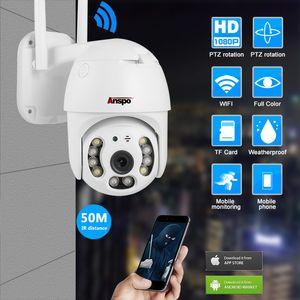야외 속도 돔 WiFi 카메라 IP 2MP H.265 오디오 PTZ 무선 카메라 iCloud-SD 슬롯 감시 감시 IP 카메라 자동 추적