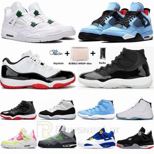 Nike Air Jordan Mens zapatillas de deporte 11s Pantone Concord 45 4s Bred zapatos de baloncesto Cactus Jack 1s Travis Scotts UNC Torsión Pure dinero Hombre formadoras al aire libre