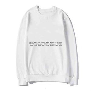 20s Classic City Nome cappuccio, da donna Via uomini manica lunga Pullover Felpa con design Lettera O-Collo Homme Abbigliamento 2 colori S-2XL