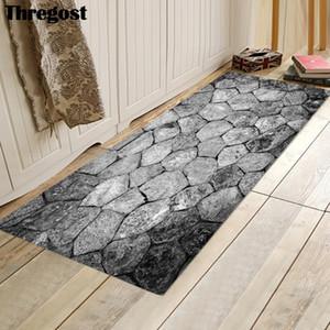Thregost 스톤 인쇄 3D 카펫 홈 인테리어 바닥 매트 스웨이드 마이크로 화이버 소프트 거실 침실 러그 복도 주방 매트