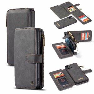 CaseMe Monedero magnética del iPhone para el 11 Pro Plus 6 6S XR X XS Max 7 8 Plus tirón vaca desmontable cubierta de cuero