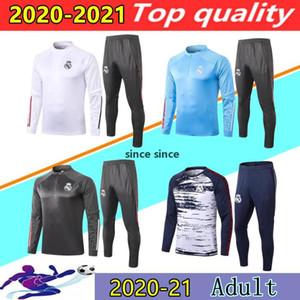 20/21 Real Madrid Giacca da calcio Giacca da calcio Suit del Chandal 2020 2021 Rischio Benzema Modric Camiseta de Futbol Jogging Football Tocksuit
