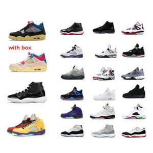 2020 Tênis de basquete 11 11s 25th Anniversary Space Jam Bred Concord 4 4S Black Cat 5 Fire Red 6S Hare Homens Sneakers