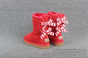 2021 Christmas Fashion australia Classic Short bow boots Designer Women Winter Snow Boots Man Ankle Knee Bow girl MINI Bailey Boot SIZE35-41