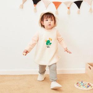 Pureborn bébé Tout-petit bébé Robe sans manches A Gril-ligne Polaire Vêtements de bébé fille Cartoon Princesse de vacances Robe anniversaire