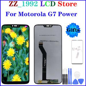 """6.2"""" Melhor qualidade substituição LCD OEM para Motorola Moto G7 Poder LCD Touch Screen exibição da montagem digitador com presentes"""