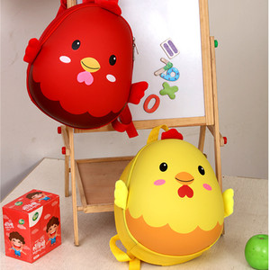 İlköğretim Sınıf Karikatür Schoolbag 2020 Okul Sevimli Yumurta Kabuğu 3D Back Çanta Özel Tavuk Anaokulu Öğrencileri Schoolbag Childrens N VFNN